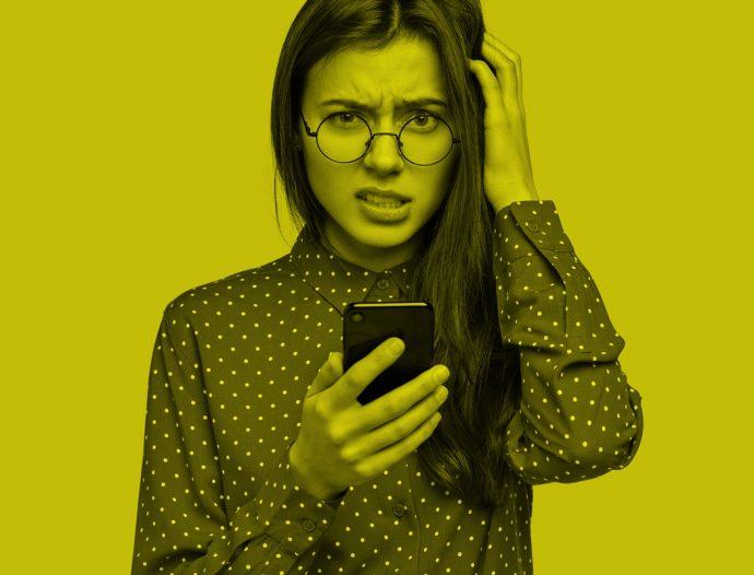 imagem representa a reação de uma pessoa ao descobrir que foi cancelada